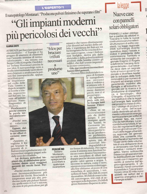 Montanari, Repubblica 6 maggio 06