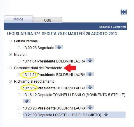 comunicazioni Boldrini