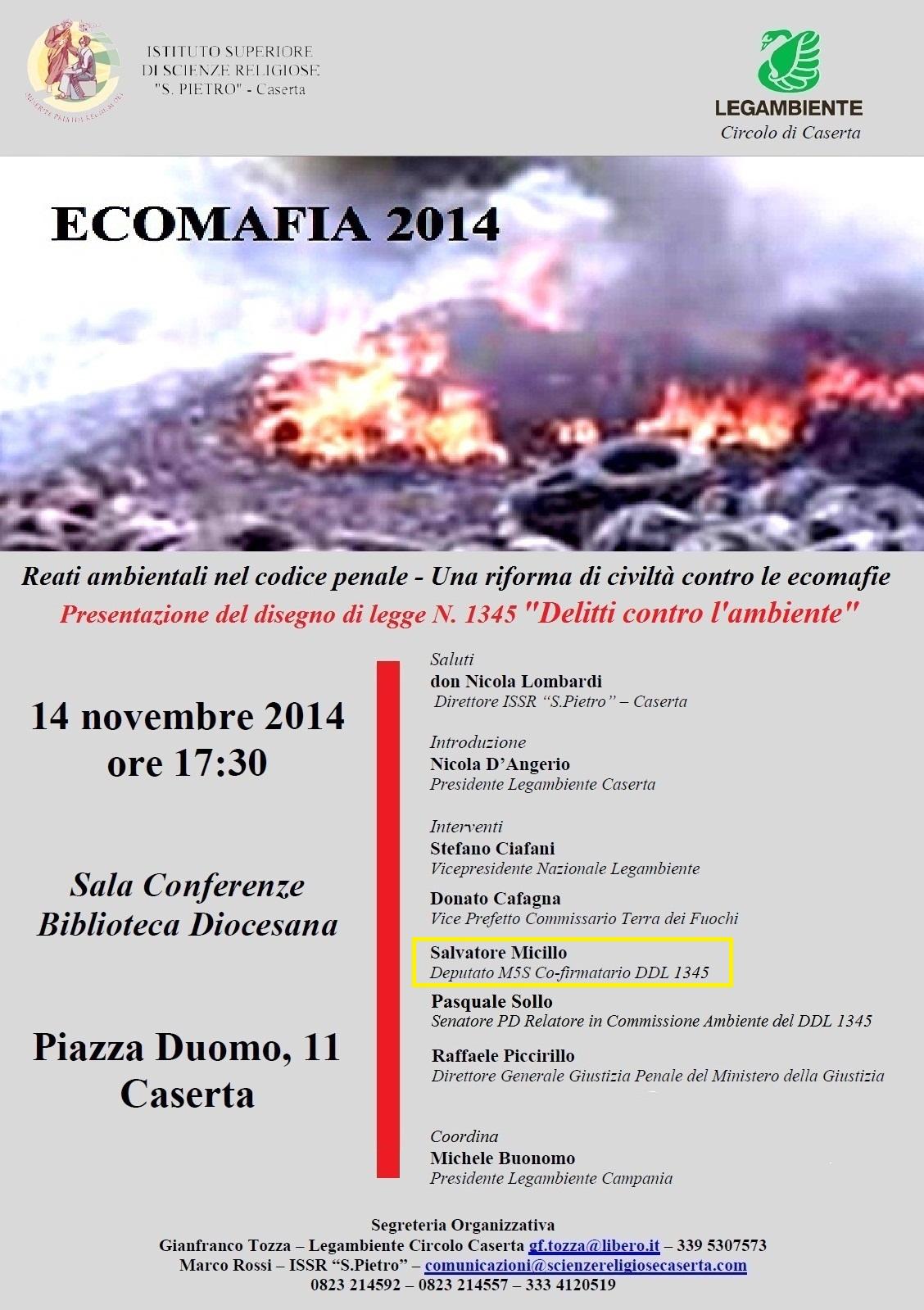 legambiente caserta rapporto ecomafia2014