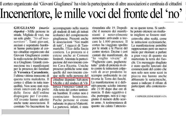 Cronache di Napoli del 29 11 2014